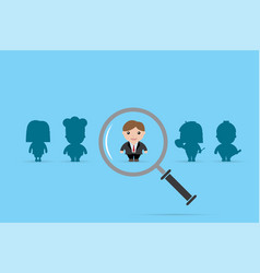 businessman and magnifying glass vector image