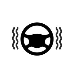 Driving wheel warmer heater icon vector image vector image