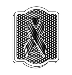 emblem black breast cancer icon vector image vector image