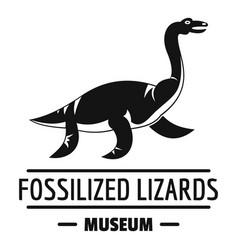 Jurassic museum logo simple black style vector