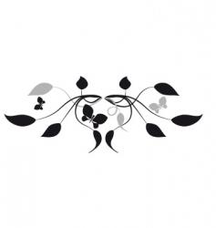 leaves vignette vector image vector image