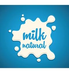 milk splodge blue background vector image vector image