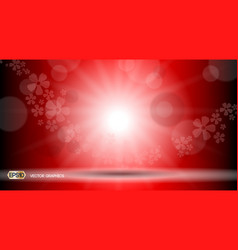 red glamorous lights waves sparkling effects vector image