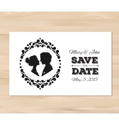 save the date wedding invitation with vector image vector image