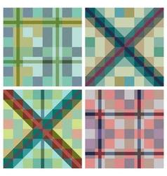 Set of seamless tartan patterns vector image