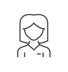 woman user line icon sign on vector image