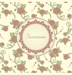 art nouveau style invitation card vector image vector image