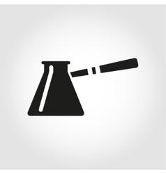 black cezve for coffe icon vector image