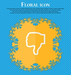 Dislike Floral flat design on a blue abstract vector image