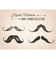 Hipster fashion vintage elements hand-drawn vector image vector image