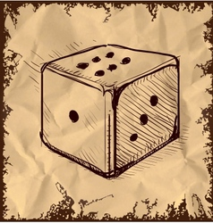 Lucky dice isolated on vintage background vector image vector image