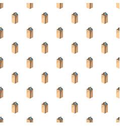 milk packet pattern vector image vector image