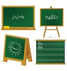 School blacboards vector image