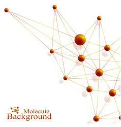 Scientific golden chemistry pattern structure vector