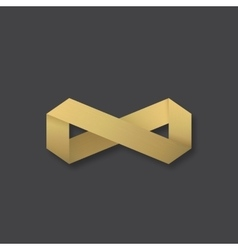 Abstract Golden Infinity Sign Symbol or vector