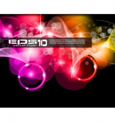 abstract space scenery light vector image