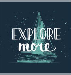 adventure and travel hand drawn unique typography vector image
