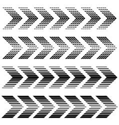 arrow strip black symbols vector image