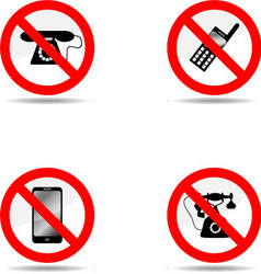 Ban phone set vector image