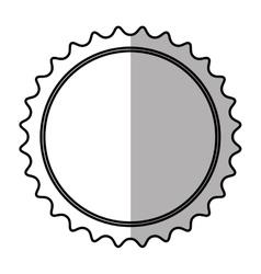 Banner blank symbol shadow vector