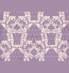 Baroque pattern old background vintage vector
