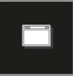Browser window browser or web flat style window vector