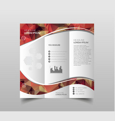 Business brochure flyer design leaflets 3 fold vector