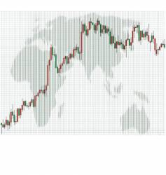 business charts candlestick vector image