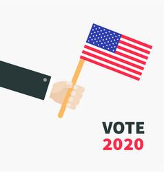 businessman hand holding american flag president vector image