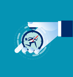 businessman working with time pressure business vector image