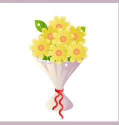 cartoon flower bride icon bouquet design vector image
