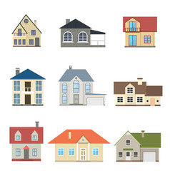 cartoon houses exterior set vector image