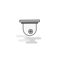 cctv web icon flat line filled gray icon vector image