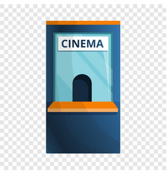 Cinema ticket kiosk icon cartoon style vector