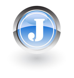 Circle letter j icon logo vector