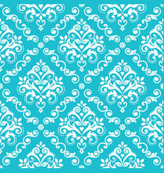 classic damask wallpaper or fabric print pattern vector image