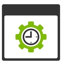 Clock Configuration Gear Calendar Page Flat Icon vector image