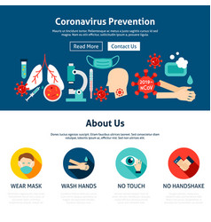 coronavirus prevention website design vector image