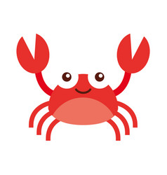cute crab sealife character vector image