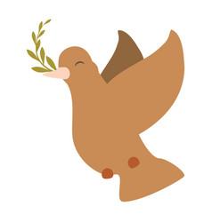 Dove the bird of peace vector