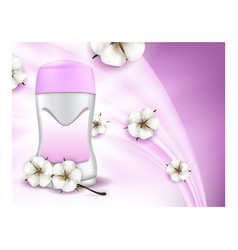 dry stick deodorant for women promo poster vector image