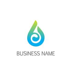 Eco droplet bio logo vector