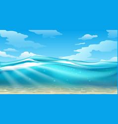 Empty underwater surface view vector