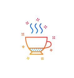 Espresso coffee icon hot drink sign vector