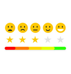 feedback or quality control rating mood with vector image