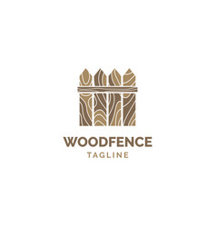 fence logo design template vector image
