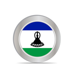 Flag kingdom lesotho is isolated vector