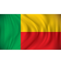 Flag of Benin vector image