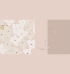 floral abstract pattern stylized hydrangea flower vector image