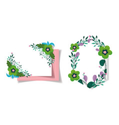 flowers foliage floral wreath decoration wedding vector image